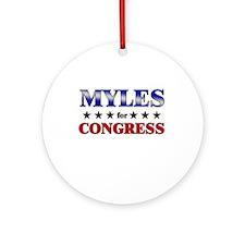 MYLES for congress Ornament (Round)
