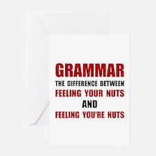 Grammar Nuts Greeting Cards