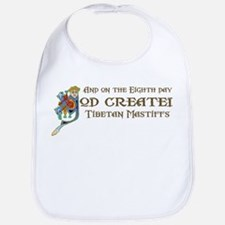 God Created Mastiffs Bib
