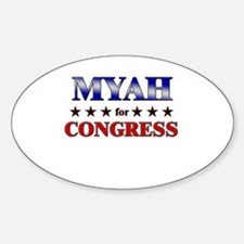 MYAH for congress Oval Decal