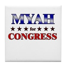 MYAH for congress Tile Coaster