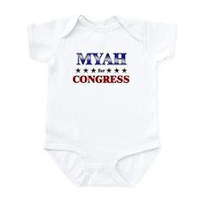 MYAH for congress Infant Bodysuit