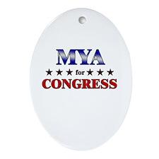 MYA for congress Oval Ornament