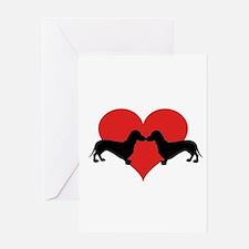Dachshund-love Greeting Cards
