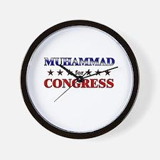 MUHAMMAD for congress Wall Clock