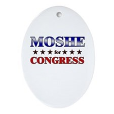 MOSHE for congress Oval Ornament