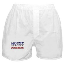 MOSHE for congress Boxer Shorts