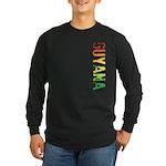 Guyana Stamp Long Sleeve Dark T-Shirt