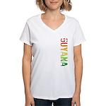 Guyana Stamp Women's V-Neck T-Shirt