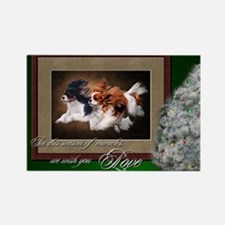 Cavaliers Christmas Rectangle Magnet