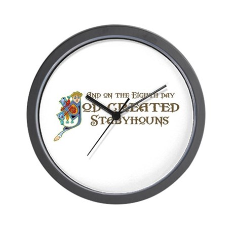 God Created Stabys Wall Clock