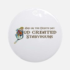 God Created Stabys Ornament (Round)
