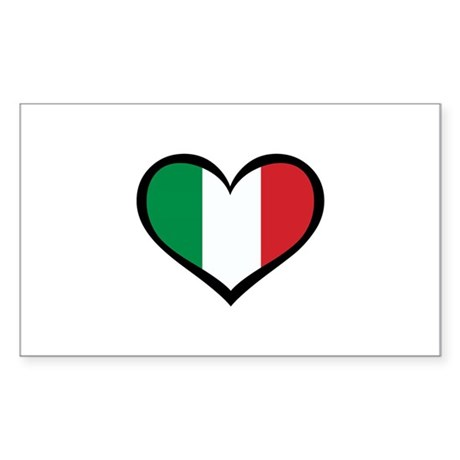 Italy Love Rectangle Sticker