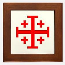 Crusaders Cross (Red) Framed Tile