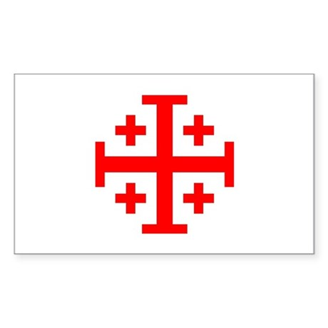Crusaders Cross (Red) Rectangle Sticker