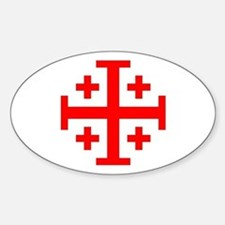 Crusaders Cross (Red) Oval Decal