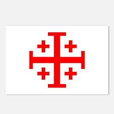 Crusaders Cross (Red) Postcards (Package of 8)