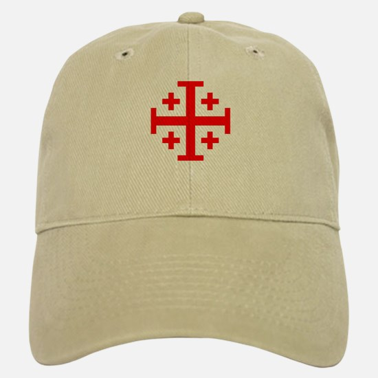 Crusaders Cross (Red) Baseball Baseball Cap