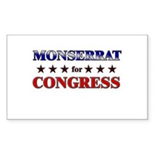 MONSERRAT for congress Rectangle Decal