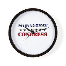 MONSERRAT for congress Wall Clock