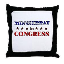 MONSERRAT for congress Throw Pillow