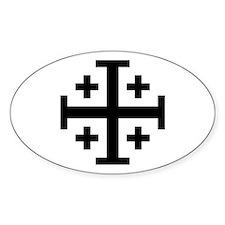 Crusaders Cross (Black) Oval Decal