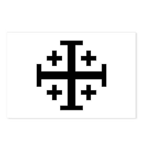 Crusaders Cross (Black) Postcards (Package of 8)