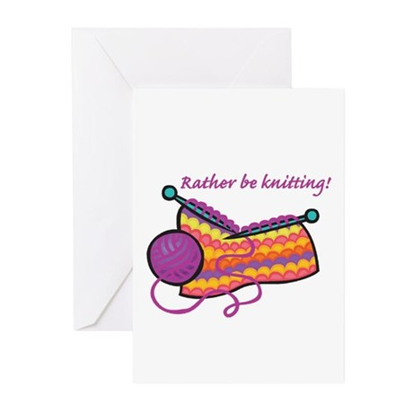 Rather Be Knitting Design Greeting Cards (Pk of 10