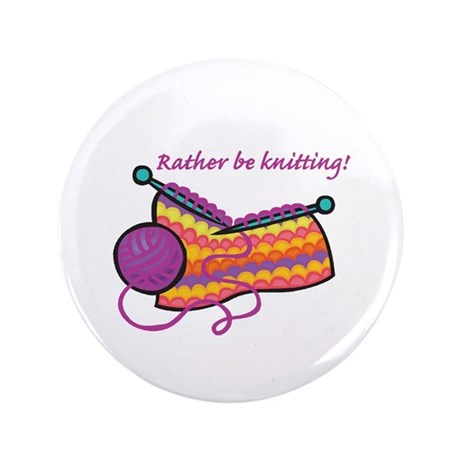 """Rather Be Knitting Design 3.5"""" Button (100 pack)"""