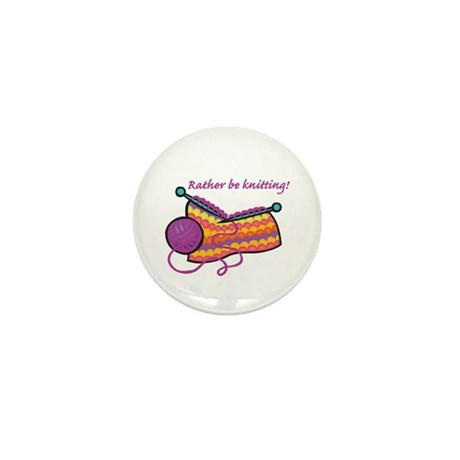 Rather Be Knitting Design Mini Button (100 pack)