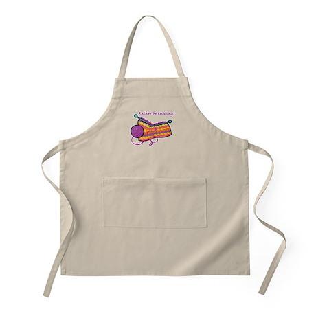 Rather Be Knitting Design BBQ Apron
