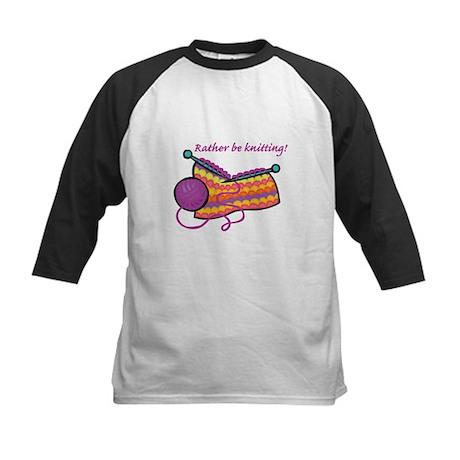 Rather Be Knitting Design Kids Baseball Jersey