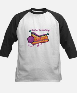 Rather Be Knitting Design Kids Baseball Jersey