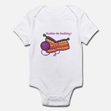 Rather Be Knitting Design Infant Bodysuit