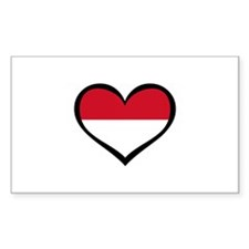 Indonesia Love Rectangle Decal