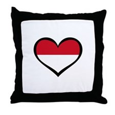 Indonesia Love Throw Pillow