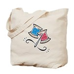 Cute Needle & Thread Design Tote Bag