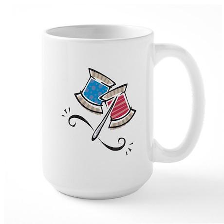 Cute Needle & Thread Design Large Mug