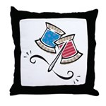 Cute Needle & Thread Design Throw Pillow
