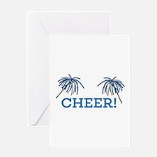 Cheer Pom Pom Greeting Cards