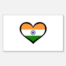 India Love Indian Rectangle Decal