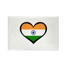 India Love Indian Rectangle Magnet