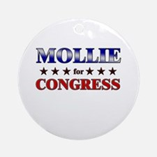 MOLLIE for congress Ornament (Round)