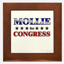MOLLIE for congress Framed Tile