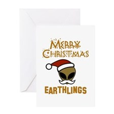 Merry Christmas Earthlings Greeting Card