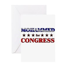 MOHAMMED for congress Greeting Card