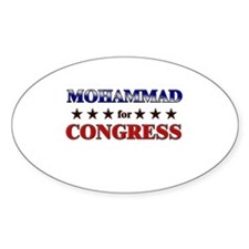 MOHAMMAD for congress Oval Decal