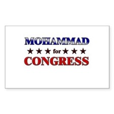 MOHAMMAD for congress Rectangle Decal