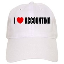 I Love Accounting Baseball Cap