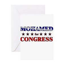 MOHAMED for congress Greeting Card